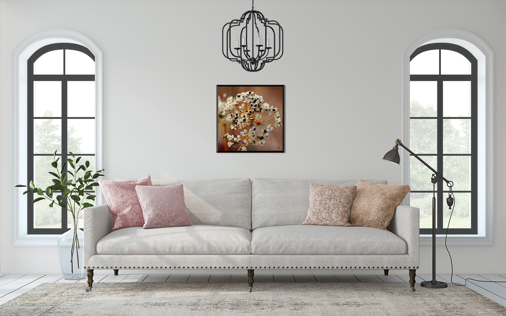 Fine Art Print, Chives Seed Flower Head, Artist Tonya M. Brill, Photographer, Time Made Beautiful, Sizes available: 10x10 inch, 20x20 inch, 30x30 inch, and 40x40 inch on Hahnemuhle Torchon Fine art Paper.