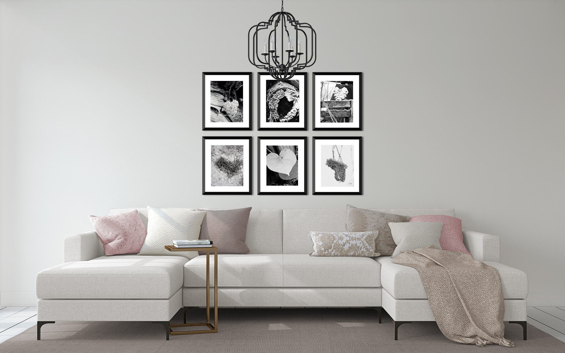 Wall display of Hearts in Nature Collection by Tonya M. Brill. Metallic Photographic Print.
